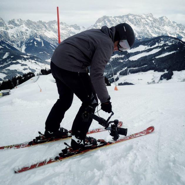 Making of Videodreh in den Alpen