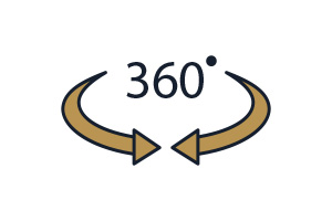 Flat Icon 360 Grad Fotografie