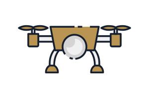 Flat Icon Drohne