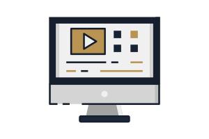 Flat Icon Video Postproduktion