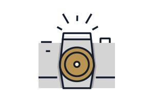 Flat Icon Produktfotografie