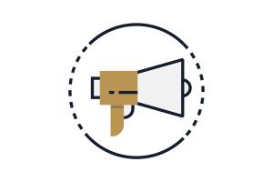 Flat Icon Video Vermarktung
