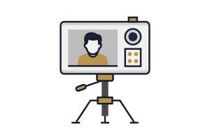 Flat Icon Video Vorproduktion