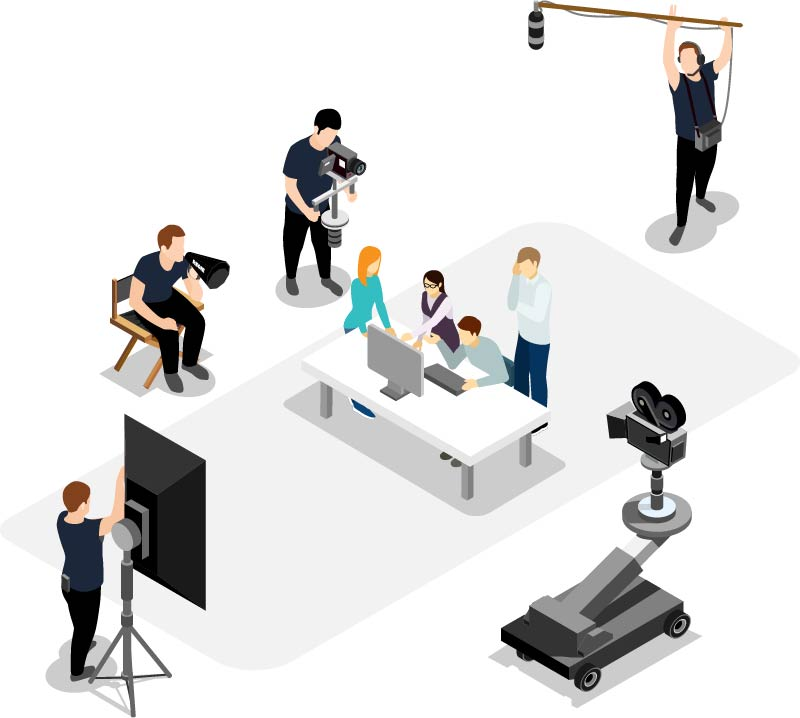 Isometrische Grafik Imagefilm