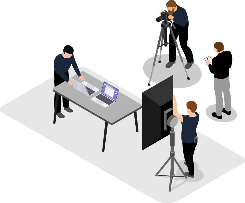Isometrische Grafik Produktfotografie